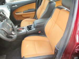 2015 2020 Dodge Charger Black Tan Leather Seat Set Front Driver Passenger Rear