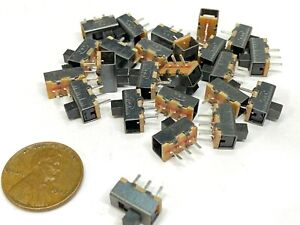 25 Pieces Slide Switch Ss 12f17 1p2t 3pin 2 Position Spdt On off E19