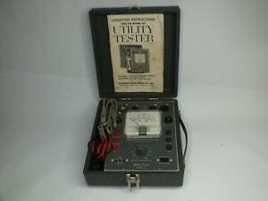 Vintage Accurate Instrument Co Utility Tester Model 161 W Manual