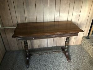 Antique Vintage Butterfly Draw Hidden Leaf Extendable Dining Table