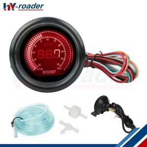 Turbo Boost Gauge Meter With Sensor 30 35 Psi Blue Lcd Red Lcd Light