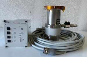 Pfeiffer Vacuum Turbo Pump With Controller Cables Tmu 065 Tcp 015
