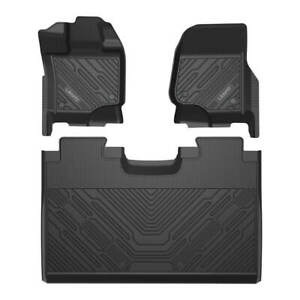 Lasfit Floor Mats For Ford F150 Super Crew Cab Lairat Xlt Rubber Tpe Liner Black