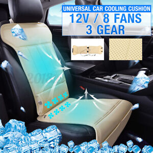 8 Built in 12v Fan Cooling Fan Wind Ventilated Cooling Car Seat Cushion 3 Speeds