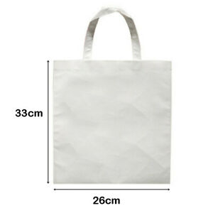 13 X 10 20pcs Blank Sublimation Non woven Diy Shopping Bags Tote Bags White