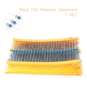 2425pcs set Metal Film Resistor 1 1 8w 0 125w Resistor Assortment Assorted Kit