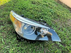 2004 2007 Bmw 5 Series 535i 550i 528 M5 Xenon Hid Headlight Right Complete Oem