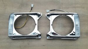 Fit For Toyota Pickup Hilux 1979 81 Chrome Headlight Door Lh Rh Pair