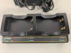 Trimble Dual Bay Charger 61116 00 For Gps 5800 R8 Sps780 Sps985 Pre owned