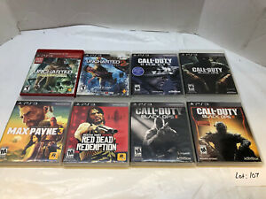 SONY 8 PS3 GAMES LOT WITH CALL OF DUTY BLACK OPS AND RED DEAD REDEMPTION $60.00