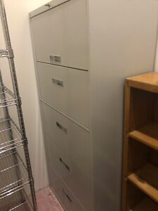 Metal Lateral 5 Drawer Filing Cabinet With Key