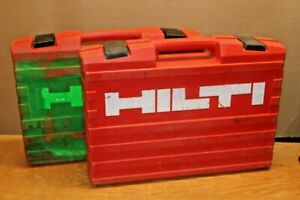 2 Hilti Heavy Duty Te2 a 24 Volt Hammer Drill Case Only Te 2a 2 Cases Total