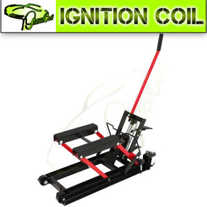 Motorcycle Atv Jack Lift 1500 Lbs Bike Stand Garage Repair Tool New High Quality