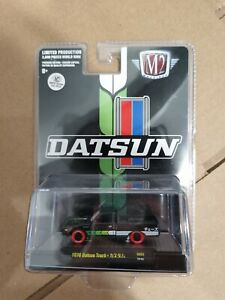 M2 Machines Chase 1978 Datsun 620 Truck 1 Of 300 Pcs Red Tire