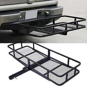60 Foldable Hitch Cargo Carrier Basket Luggage Rack Trailer 500lbs Capacity
