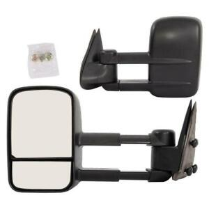 Towing Door Side View Pair For 2002 2006 Chevy Avalanche Truck Mirrors Manual
