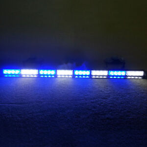 32 Led 35 5 emergency Traffic Advisor Flash Strobe Light Bar Warning Blue White