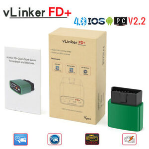 Obd2 Car Diagnostic Tool Vlinker Fd Bluetooth 4 0 Forscan For Ford Android Ios