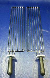 Stainless Steel Commercial Grill Racks Left Right Contact Toaster Oven