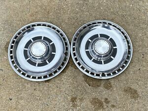Set Of 2 Gm Chevy 1969 Chevelle Hubcaps