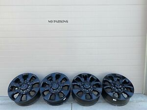 2021 20 Dodge Ram 2500 Black Oem Factory Stock Wheels Rims 8x165 Limited 18