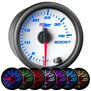 Glowshift White 7 Color 35 Psi Boost Gauge