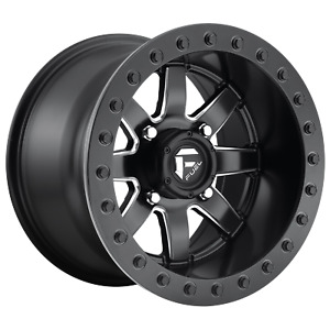 15 Inch 4x6 14 Wheel Rim 15x10 0mm Black Fuel Utv