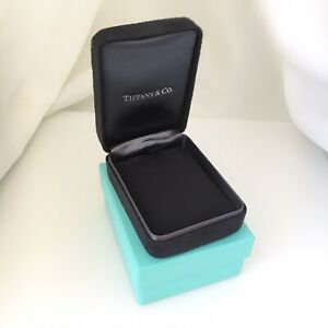 Tiffany Co Necklace Presentation Black Suede Box And Blue Box Gift Bag
