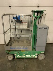 2012 Genie Gr12 12 Electric Runabout Scissor Vertical Mast Drivable Man Lift