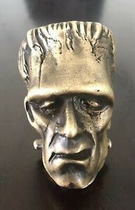 Brass Frankenstein Head Shift Knob Custom Made Solid Medal Hot Rod Rat Rod