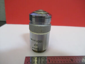 Leitz Germany Ef 100x 160 Objective Optics Microscope Part As Pictured b6 a 08