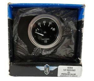 Vintage Stewart Warner 80 Psi Oil Pressure Gauge 82304 W Box Instructions