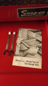Snap On Tool Box Drawer Slide Remover Tools With Instructions Sold In Pairs