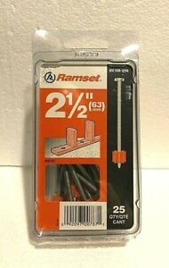 Ramset Itw Brands 2 1 2 Nails 63mm Box Of 25 00787 Power Fasteners