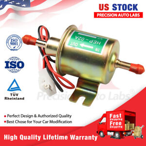 Universal 12v Electric Inline Fuel Pump For Lawn Mowers Small Engine Gas Diesel