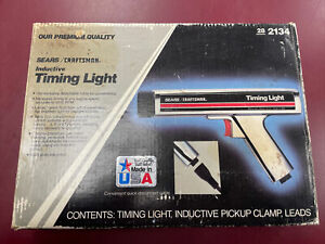 Vintage Sears Best Inductive Timing Light Gun 282134 Craftsman Made In Usa
