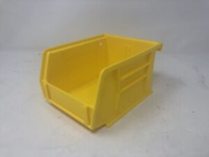 12pk Yellow Plastic Stackable Or Hang Storage Bin Toys Tools Parts 5 1 2 X 4 X 3