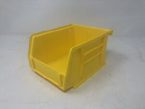 3pk Yellow Plastic Stackable Or Hang Storage Bin Toys Tools Parts 5 1 2 X 4 X 3