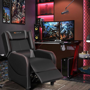 Gaming Recliner Sofa Home Theater Single Seat Racing Massage Computer Reclining