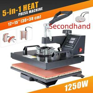 Secondhand 12x15in T shirt Heat Press Machine For Shirt Puzzle Coaster Cup More