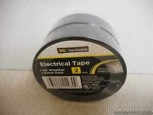 2 Electrical Black Vinyl Tape All Weather Each 0 75 X 50 Ft Brand New