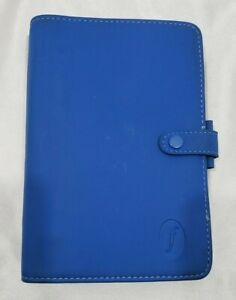 Filofax Vintage College Planner Binder Personal Size Royal Blue Snap 6 Rings 1