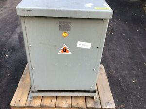 Uptegraff 30 Kva Transformer 3ph Type Dftv Class Aa 480 To 208y 120 Volts Used