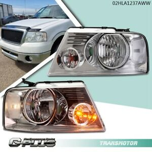 For 04 08 Ford F150 Lincoln Mark Lt Chrome Clear Replacement Headlights Lamps