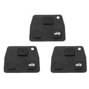2 3 Buttons Car Remote Black Key Fob Rubber Pad Replacement For Toyota Avensis