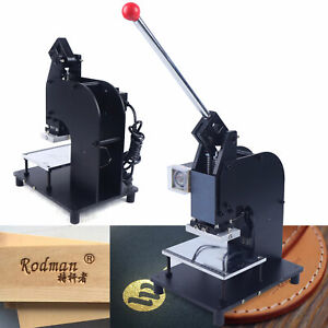 500w Hot Foil Stamping Leather Embossing Machine Manual Rubber Plastic Press Usa