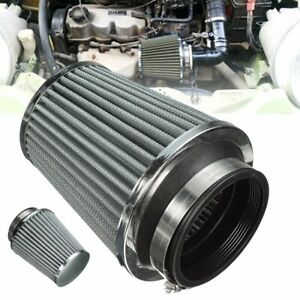 3 75mm Air Filter Clean Intake For Car High Flow Short Ram Cold Round