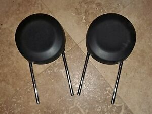 2012 2017 Fiat 500 Front Seat Head Rest Leather Black Set Of 2