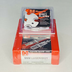 Hornady 9mm Die Set 546515 and LnL #8 Shell Plate 392608 BUNDLE $164.00
