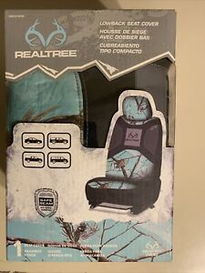 Realtree Cool Mint Green Camo Universal Seat Cover Camouflage Auto Car Truck